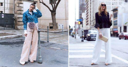 Weite Stoffhosen wie Marlenehosen oder Palazzohosen gehören zu den Trends  im Frühling. Wir verraten dir a3ba4ac968