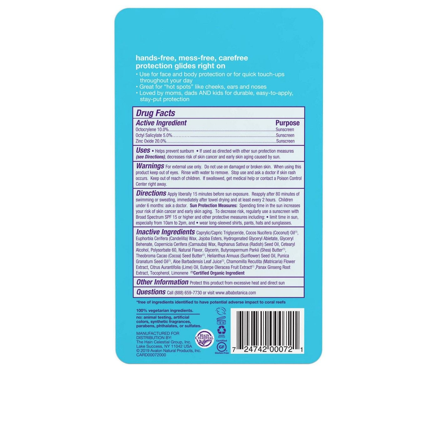 Alba Sms Fast Fix Sunscreen Stick Twin Pack Spf 30 0 5oz