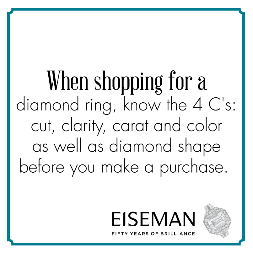 Eiseman Jewels Sparkling Suggestion! | Eiseman Bridal | Engagement Ring | Diamonds | Jewelry | Tips | Wedding