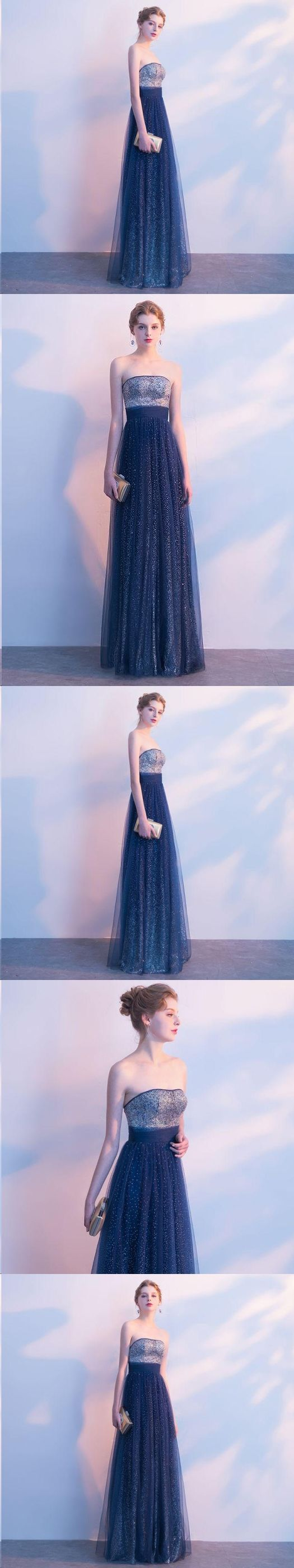 Beautiful prom dresses strapless aline sexy ombre prom dress long