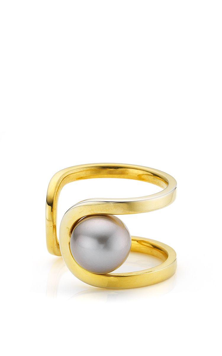 Flow Open Ring by Melanie Georgacopoulos for Preorder on Moda Operandi