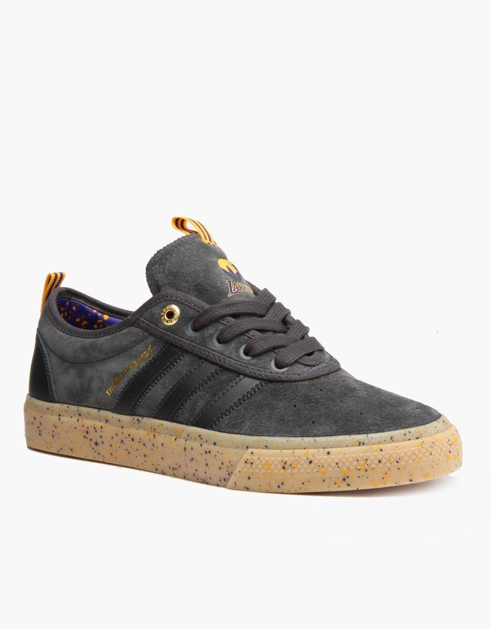 Adidas NBA x The Hundreds Adi-Ease Adv Skate Shoes - Grey/Purple/