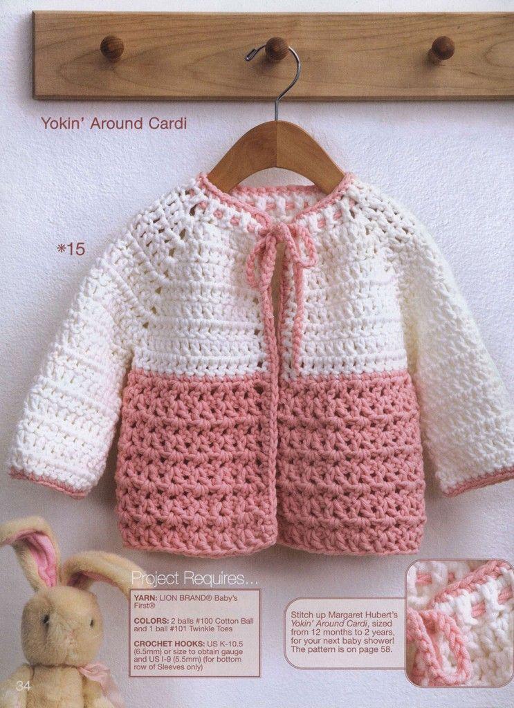Yoke Toddler Crochet Cardigan Pattern Crochet Pinterest