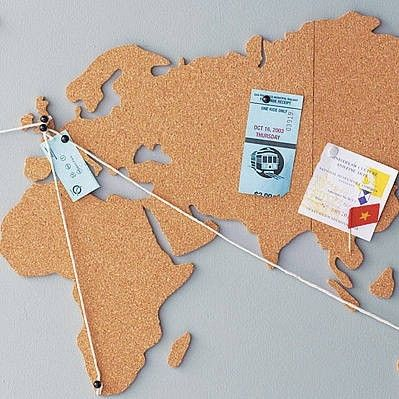 Luckies corkboard map world shaped picture photo memo pin board wall luckies corkboard map world shaped picture photo memo pin board wall hang decor ebay gumiabroncs Choice Image
