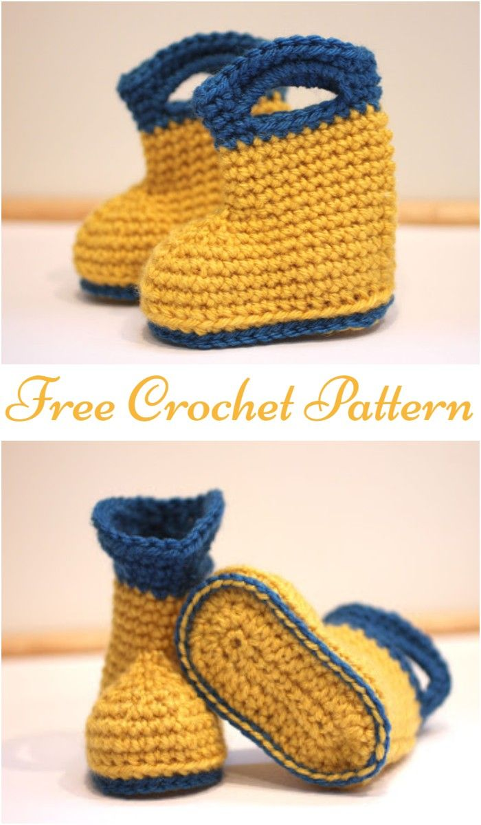 New & Cute Crochet Baby Booties - #crochetbabyboots