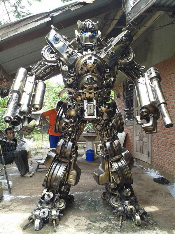 20 ft Transformers Made from Old Car Parts … | Pinteres…