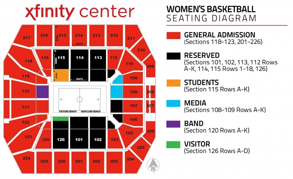 Seating Charts University Of Maryland Athletics With Regard To