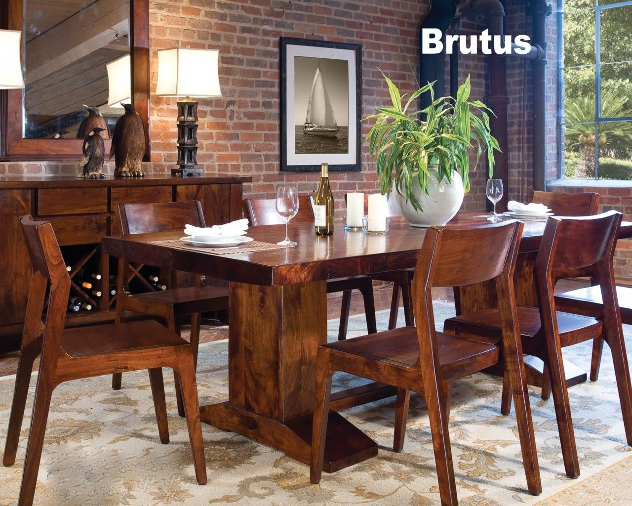 World Interiors - Brutus Dining Table 94, $2,499.00 (http://www.worldinteriors.com/brutus-dining-table-94/)