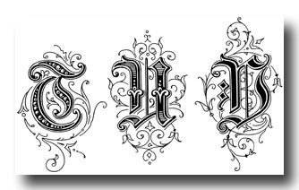 Old English Style Letters - Image 7
