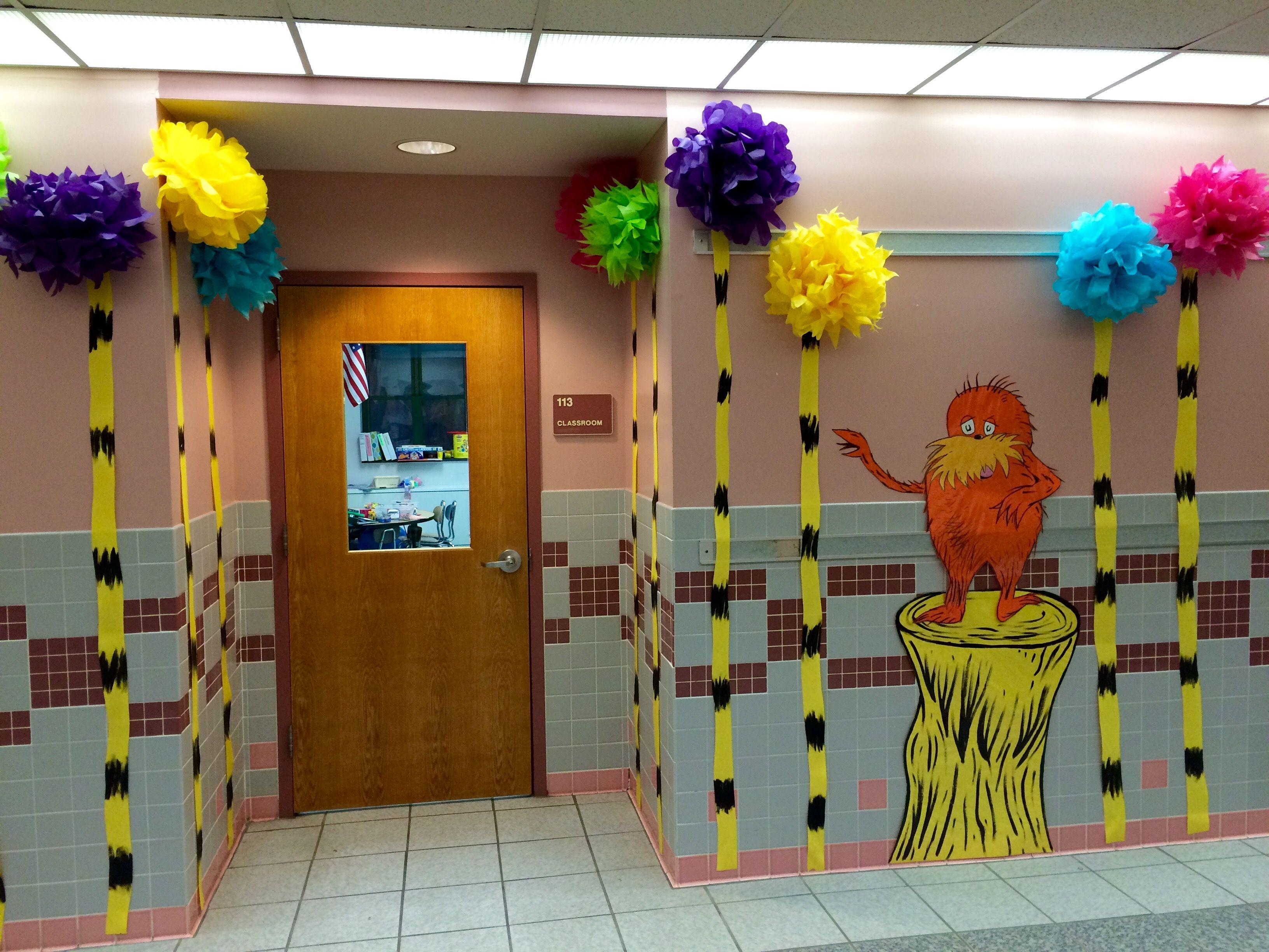 Lorax Classroom Decor ~ The lorax dr seuss my school hallway and door