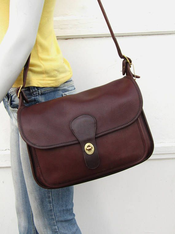 597553737209 Vintage Coach Bag    Coach Rambler in Oxblood Leather    New ...