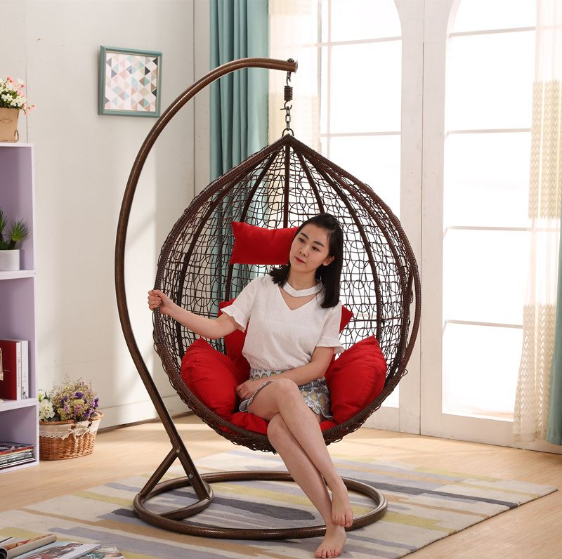 Hot Item Popular Cheap Price Rattan Swing Chair Rattan Hanging Egg Chair D011b Swinging Chair Hanging Egg Chair Pink Desk Chair