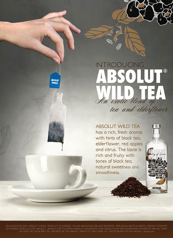 Absolut Wild Tea - Magazine Ad on Behance   Priming   Pinterest ...