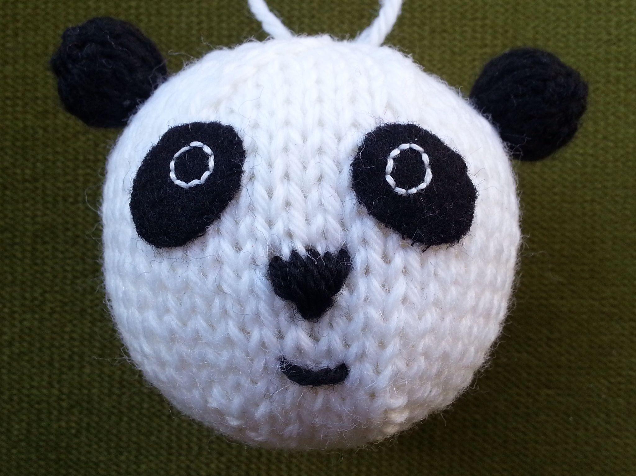 Bear Baubles   Knitting patterns, Panda and Patterns