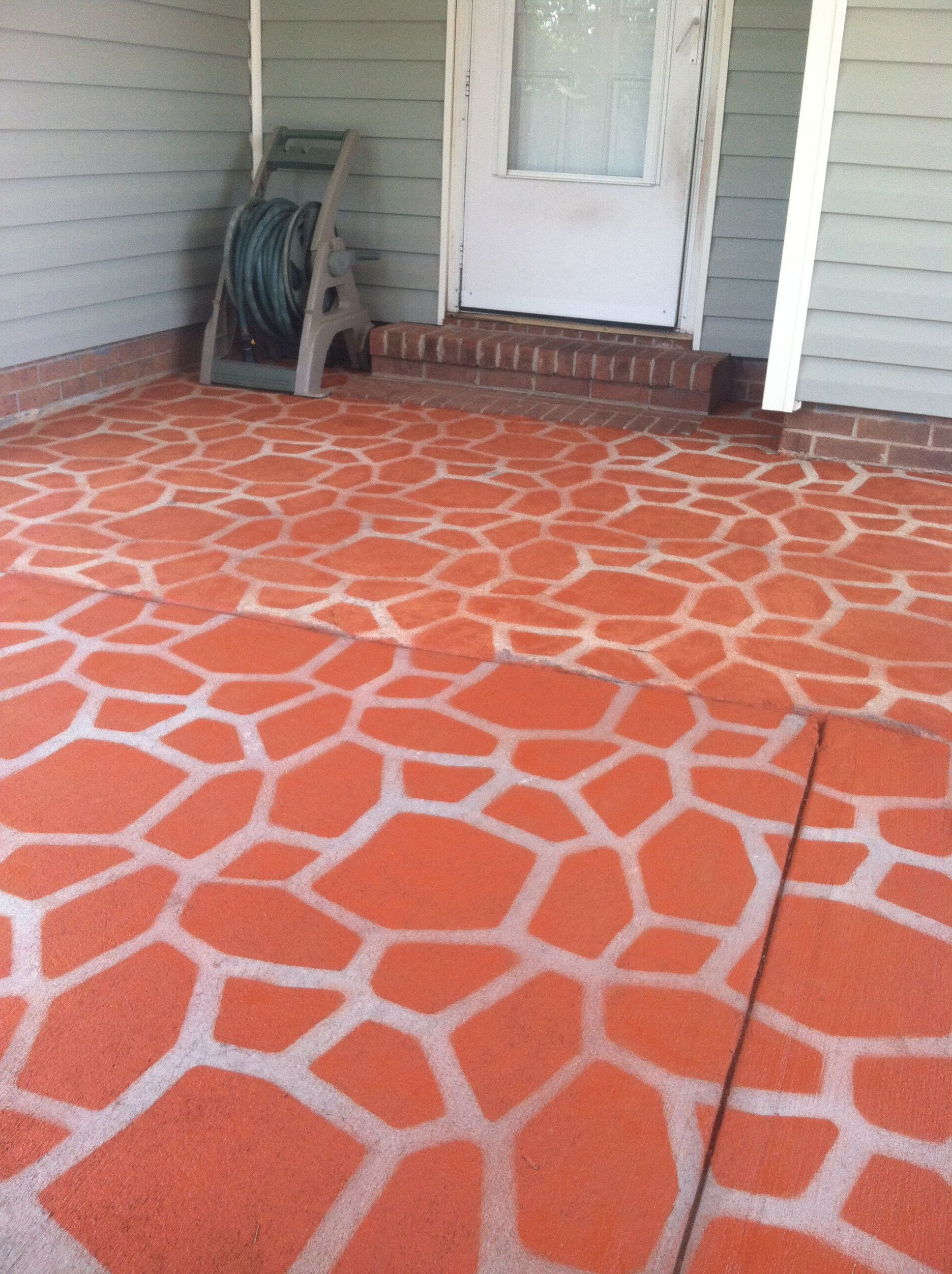 Afterspray painted my patio with a mold made for