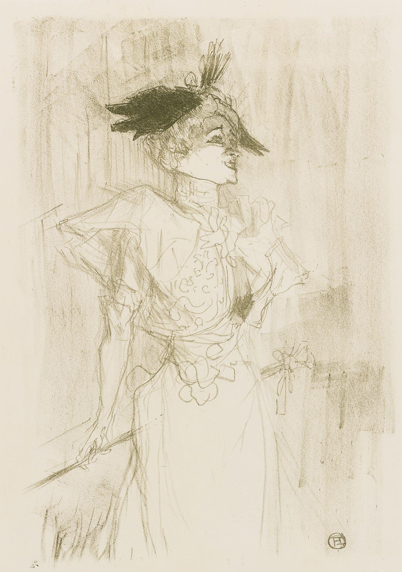 Henri De Toulouse Lautrec Mademoiselle Marcelle Lender Debout D 103 Adr 116 W 101 1895 Henri De Toulouse Lautrec Dessin Toulouse