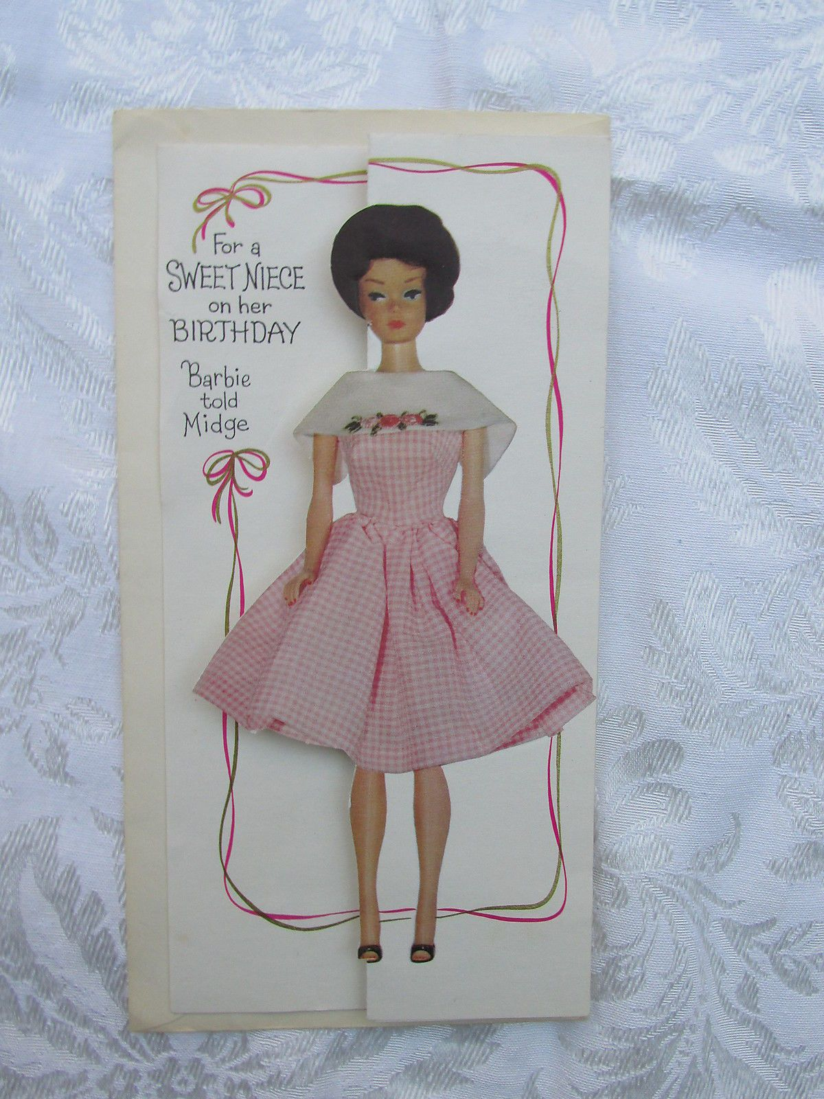 Very Hard to Find Barbie Birthday Card with Barbie in Dancing Doll ...