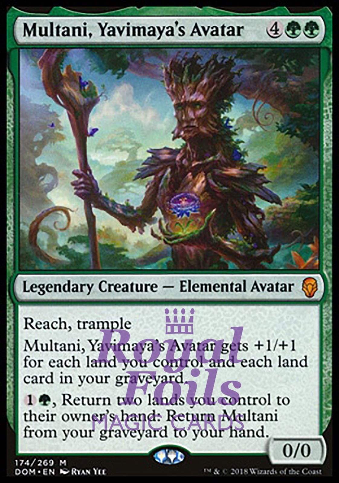SYLVAN AWAKENING rare Magic the Gathering card Dominaria