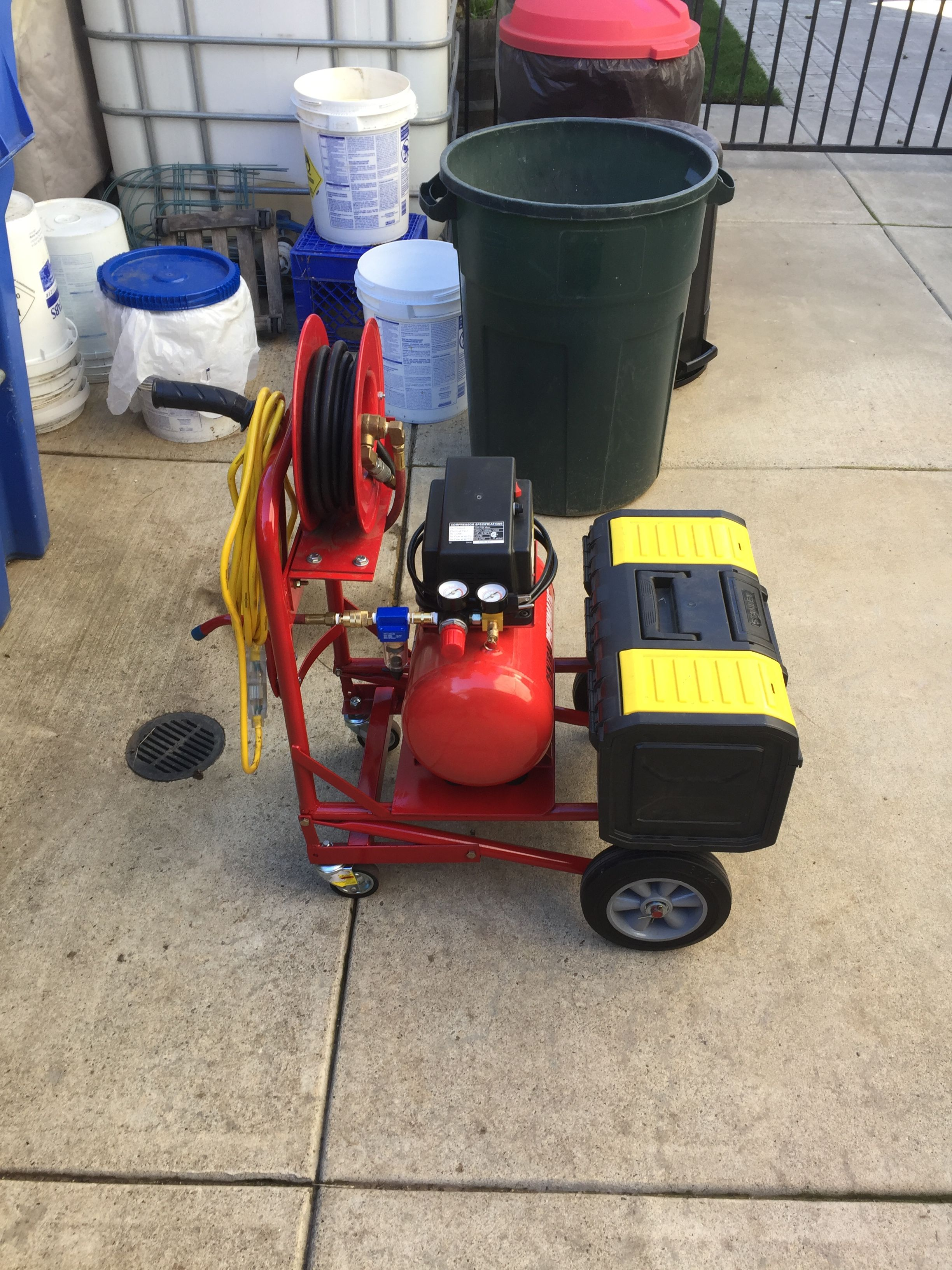 Mobile air compressor cart Welding projects, Mobile air