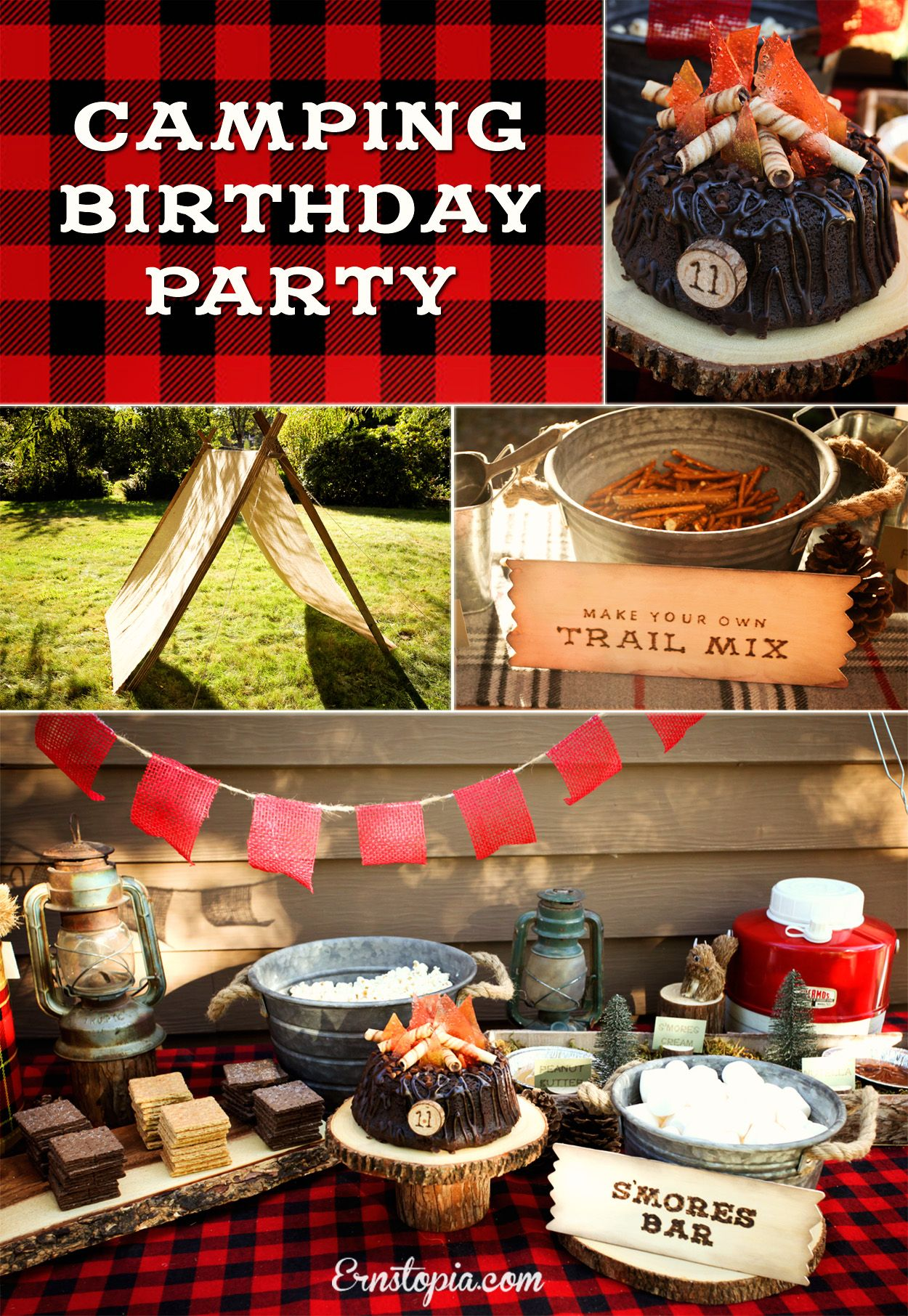 A Camping Party Is The Perfect Theme For Summer Birthday