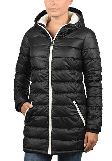 Desires Dori Damen Winterjacke Steppmantel Mit Kapuze Aus Hochwertigem Material Amazon De Bekleidung Winterjacken Mantel Frauen Und Jacken