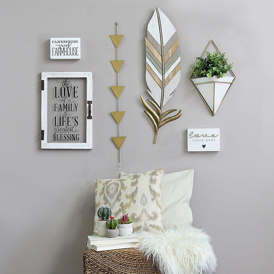 Boho Feather Wall Art Multi -   22 home decor for cheap diy wall art ideas