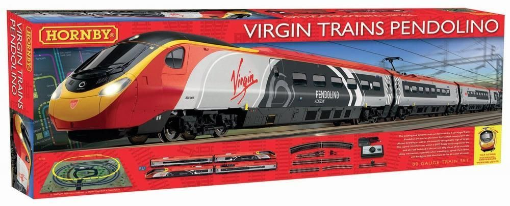 Hornby Virgin Trains Pendolino Electric Train Set With Tilt Oo