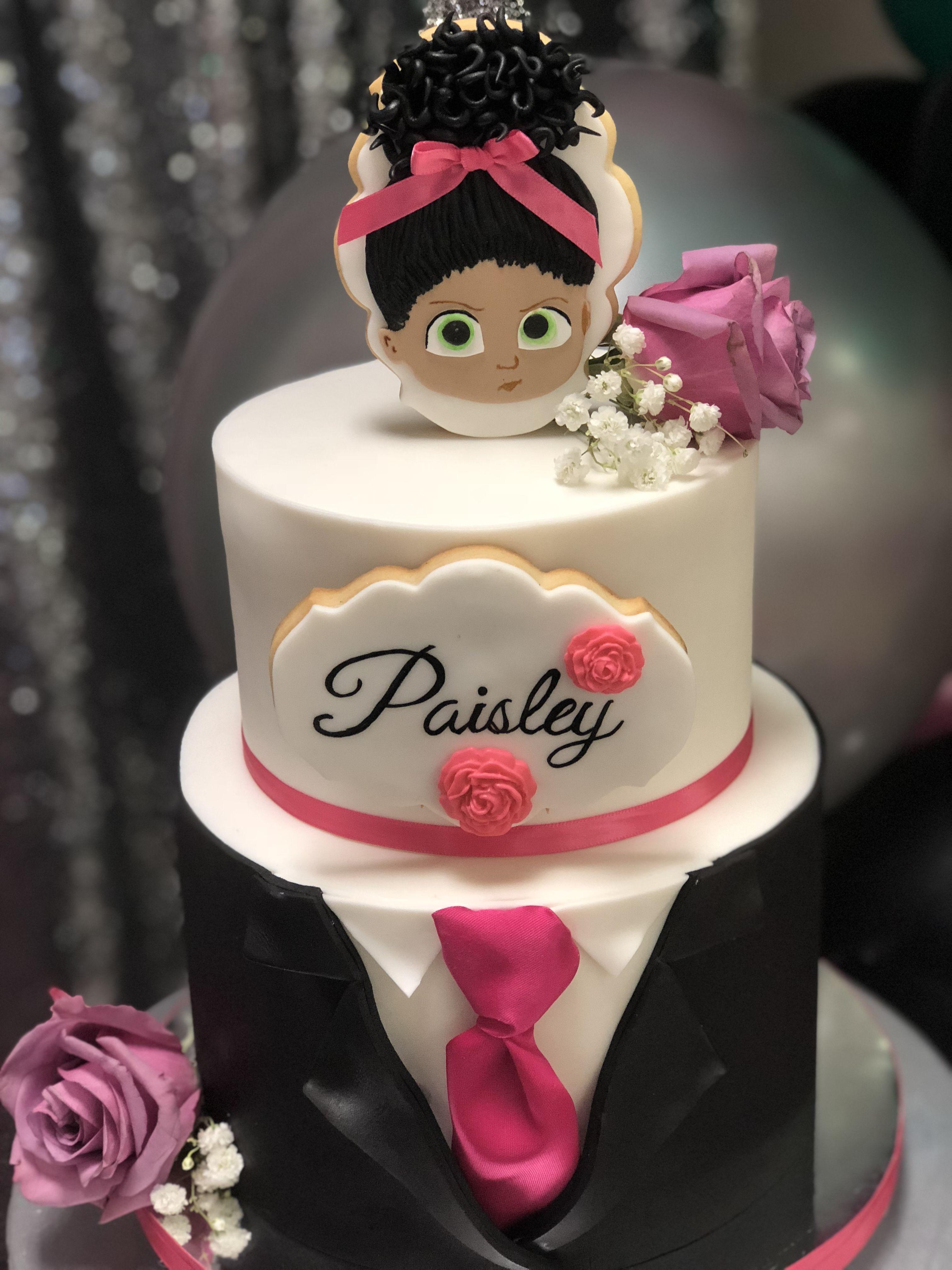 Girl Boss Baby Cake Baby Girl First Birthday Baby Girl