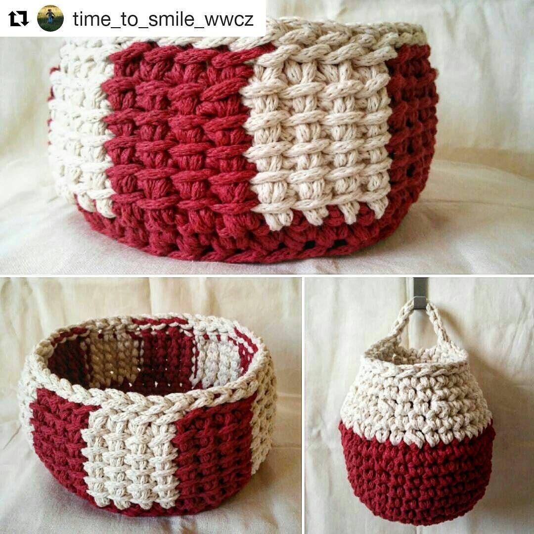 Pin de Rosi Balle en Crochet ideas para el hogar   Pinterest   Cesto ...