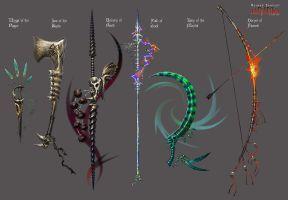 Anima: Bone weapons by Wen-M