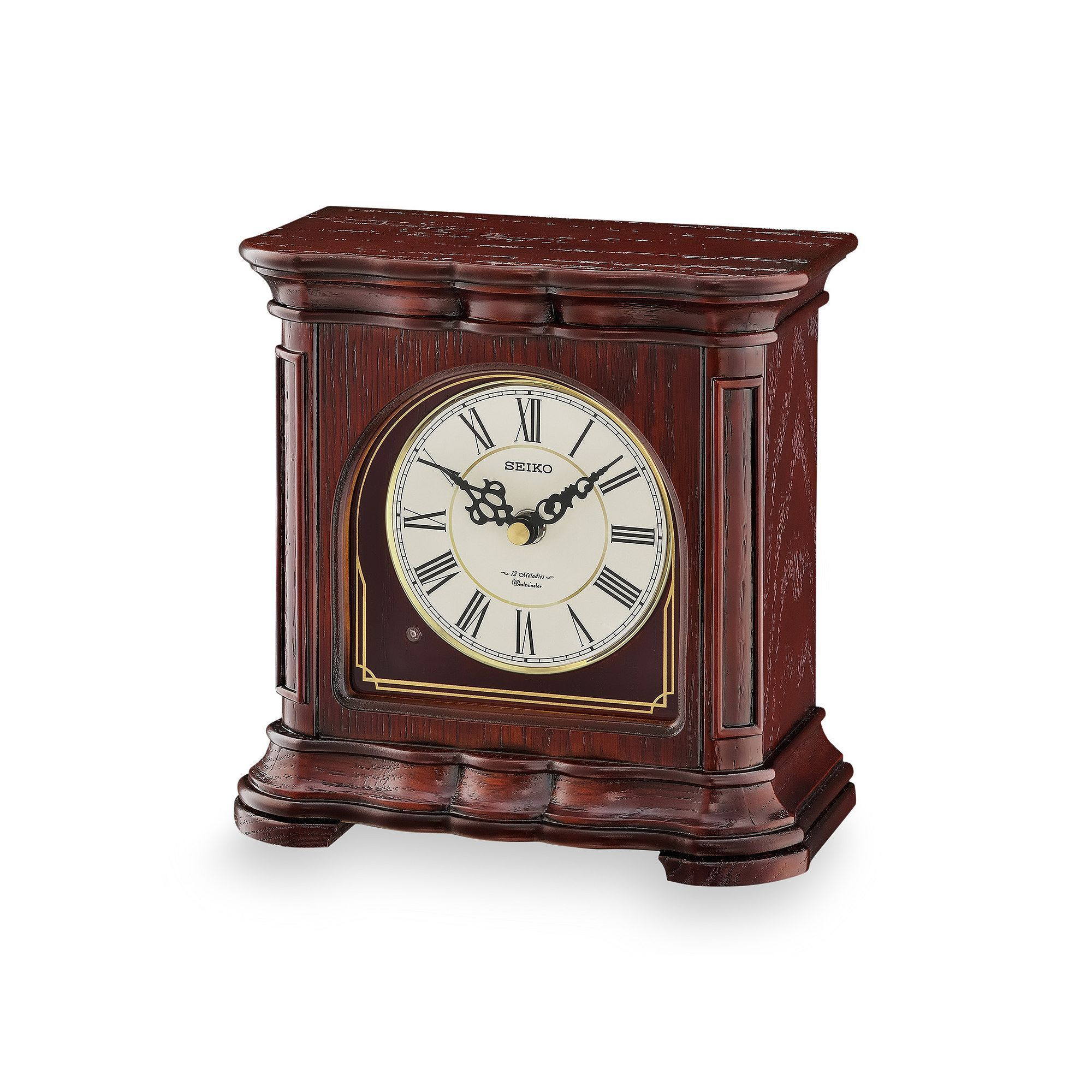 Seiko Wood Musical Mantel Clock   QXW243BLH, Brown
