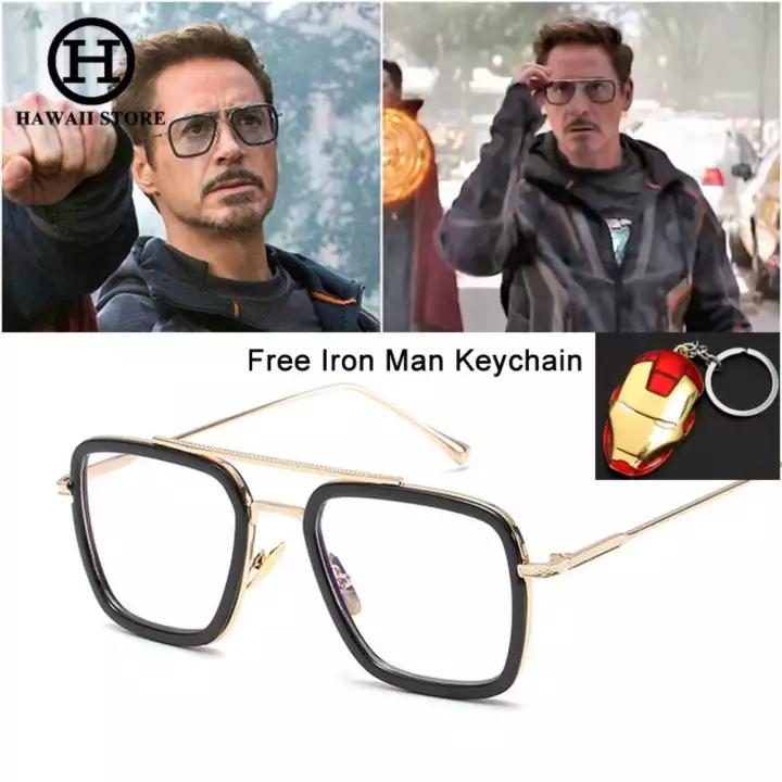 Hawaii Collection Fashion Avengers Tony Stark Flight 006 Style Sunglasses Men Square Aviation Brand Design Sun Glasses Fashion Sunglasses Mens Sunglasses Tony Stark