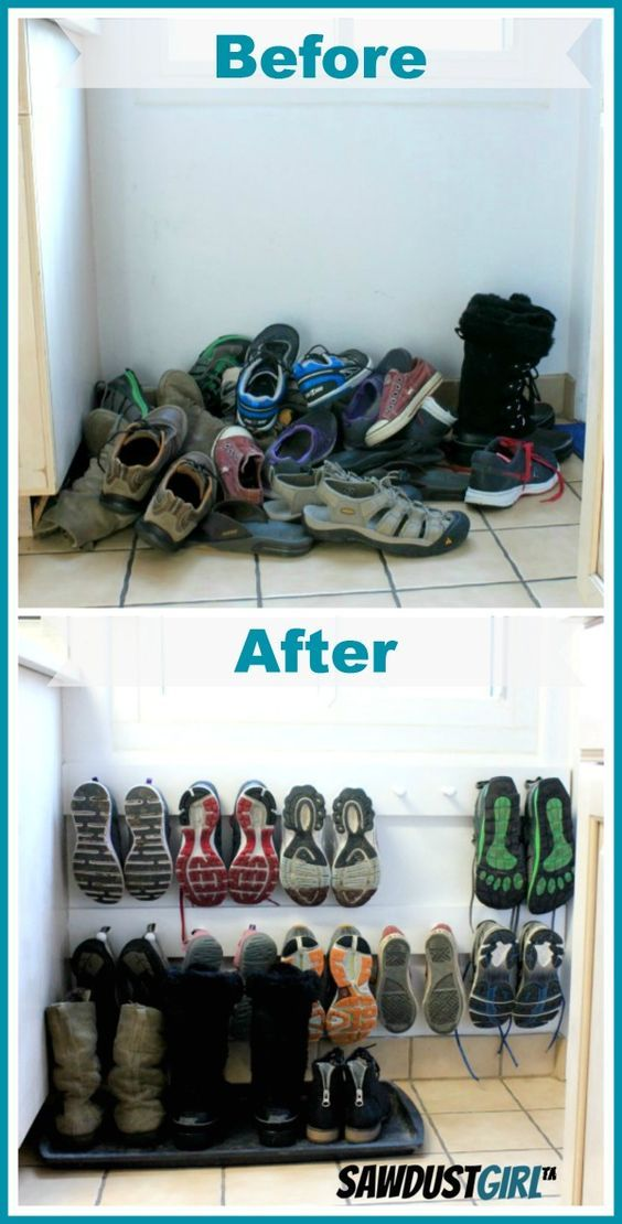 Easy Entry Organization With Shoe Pegs Sawdust Girl Space Saving Shoe Rack Entry Organization Storage And Organization