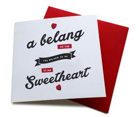 A Belang To Yee Geordie Song Lyrics Valentines Card Valentine