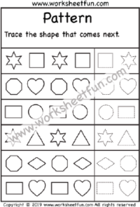 Pattern Recognition Worksheets Shapes Pattern Recognition