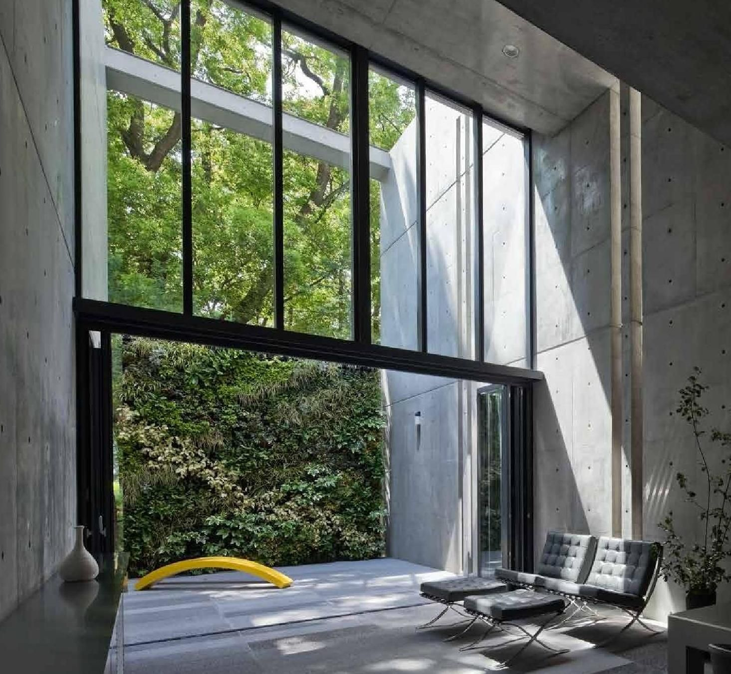 Ultra Green Modern House Design With Japanese Vibe In: Tadao Ando: Houses