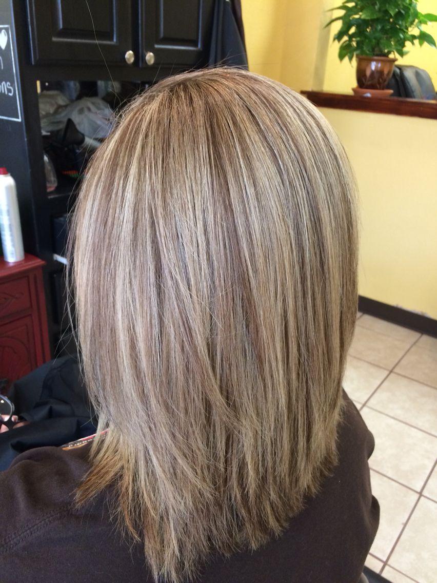 Medium length hair with hilights and lowlights hair pinterest