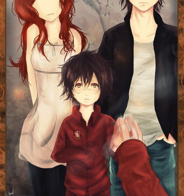 Like This Pic Because Lily N James Died When They Were 21 They Were Totally To Old In Mirror Harry Potter Anime Harry Potter Artwork Harry Potter Universal