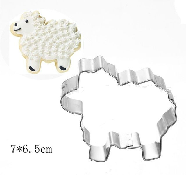 Stainless Steel Cookie Cutter Elephant Animal Shape Cake Pastry Mold Baking Tool