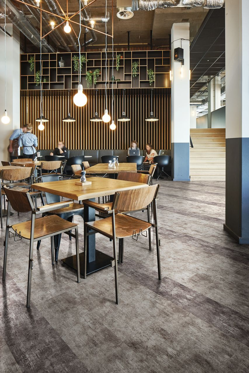 Flotex Flocked Textile Flooring Modular Planks Concrete Industrial Trend Hospitality Interior Design Huis
