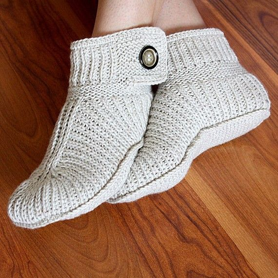 Knitting Pattern (PDF file) Winter Boots - Ault sizes | Deco-macramé ...