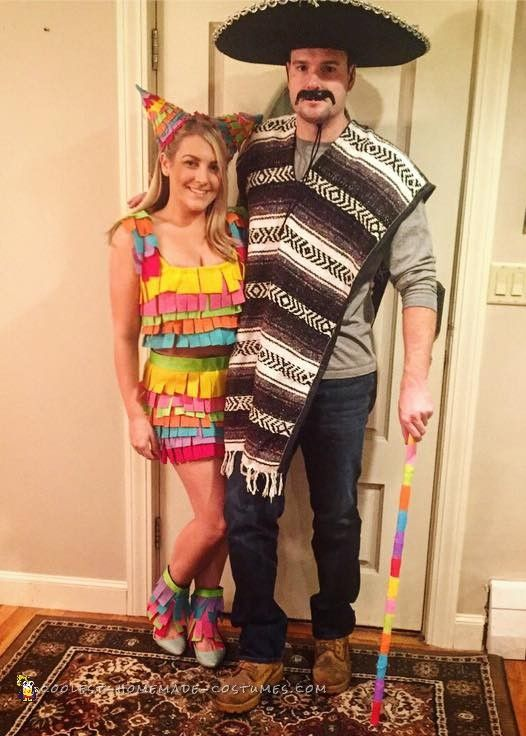 Mexican Pinata Couple Costume  sc 1 st  Pinterest & Mexican Pinata Couple Costume | Pinterest | Mexican pinata Mexicans ...