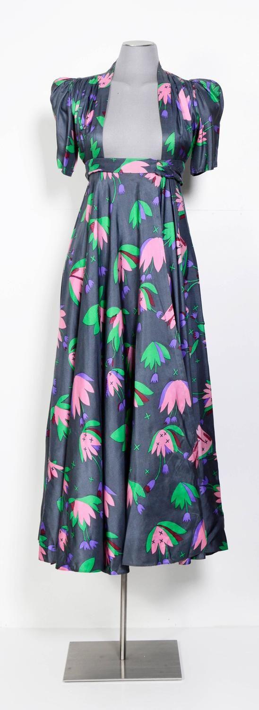 OSSIE CLARK Iconic 1970's Tulip Print Celia Birtwell Wrap Dress