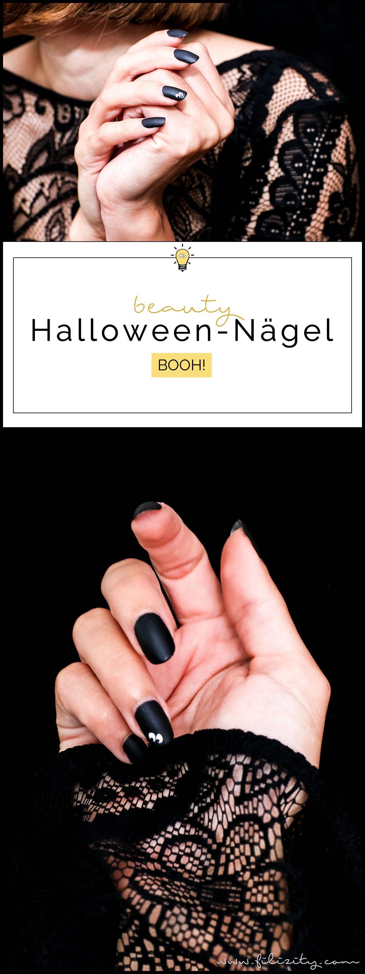 Elegantes Halloween Nageldesign \