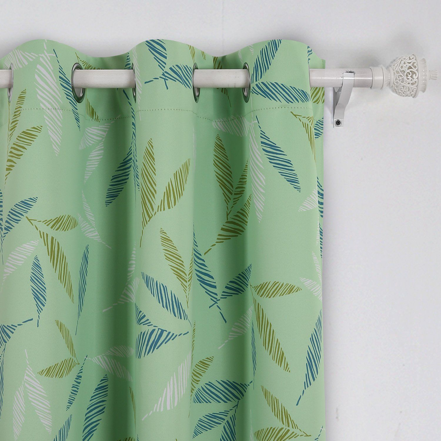 Deconovo home fashion decorative curtains with grommet top leaf