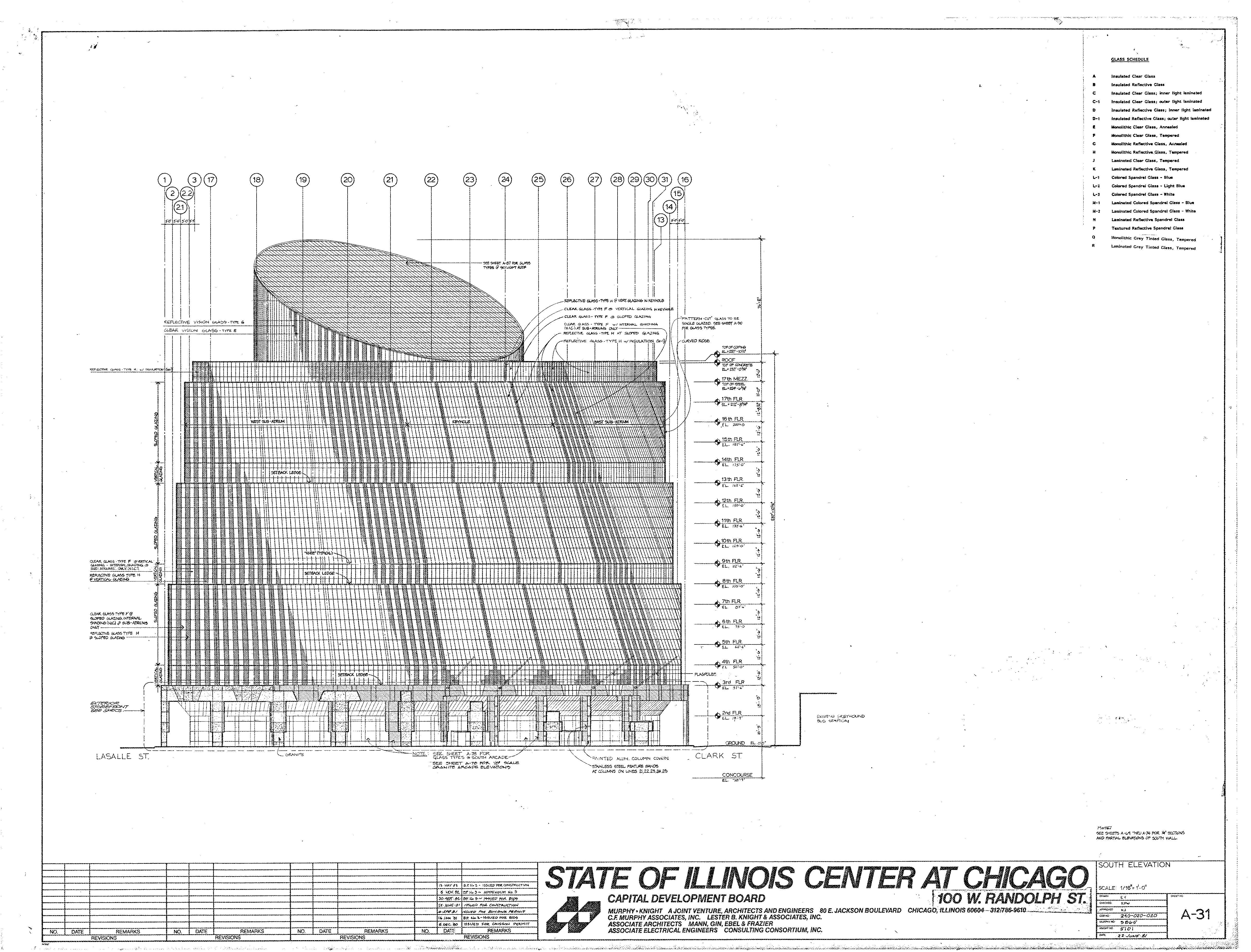 Helmut Jahn James R Thompson Center State Of Illionis Center Chicago Estados Unidos 1985 Thompson Center Illinois Postmodernism