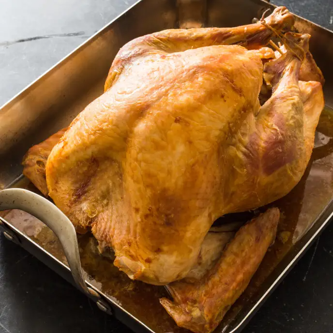 Easier Roast Turkey And Gravy Cook S Illustrated Recipe Roasted Turkey Cooks Illustrated Recipes Cooking Turkey