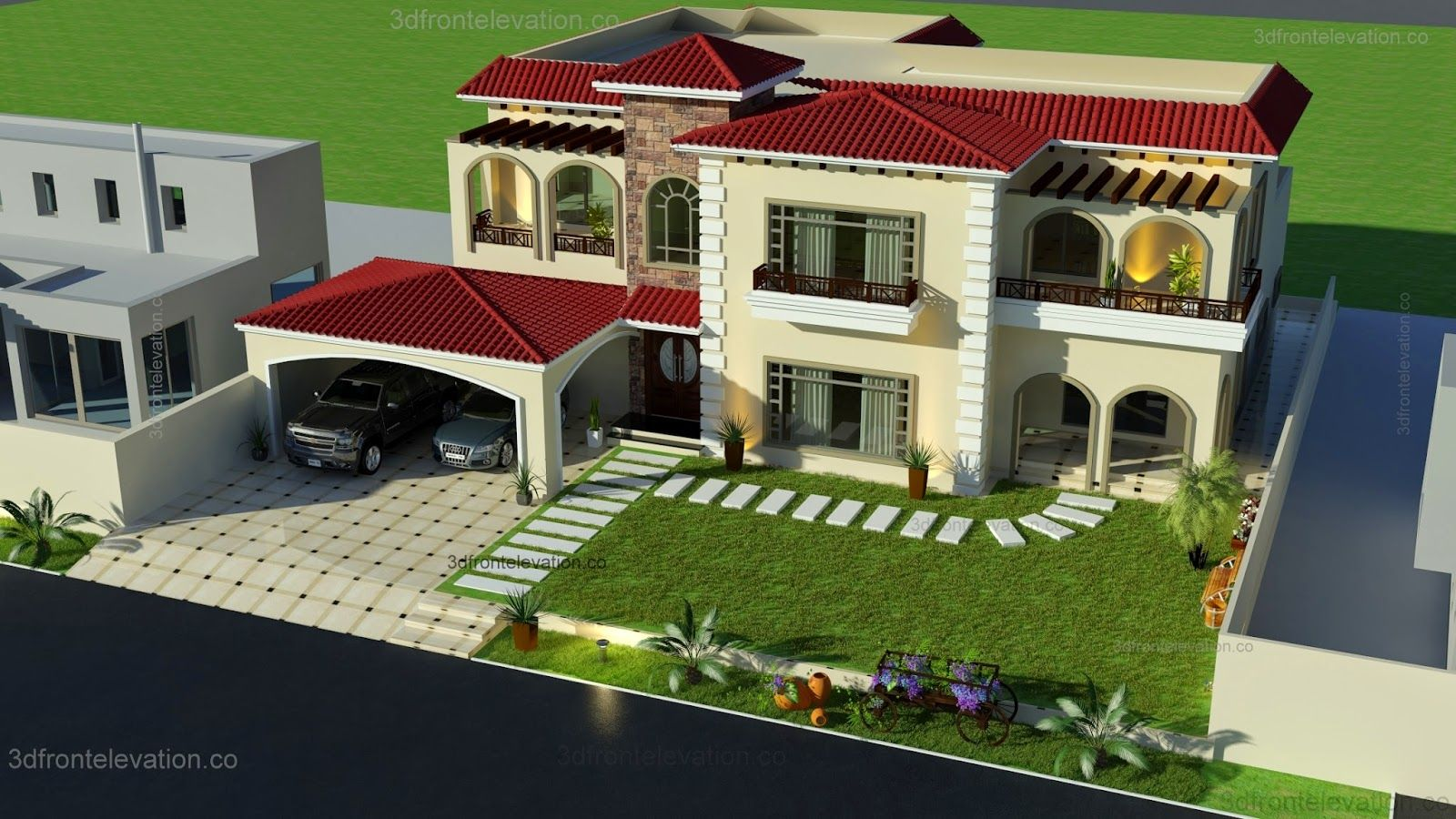 1000 Square Yards House Designing Layout Plan Mediterranean House Designs Mediterranean Homes Architectural Design House Plans