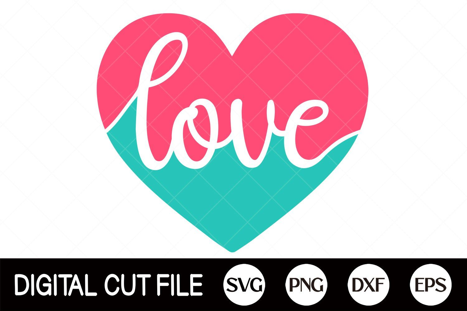 SVG Layered Love Svg for Cricut