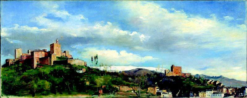 La Alcazaba Y Torres Bermejas De Manuel Gómez Moreno Pieza Del Museo Casa De Los Tiros Alhambra De Granada La Alhambra Samos